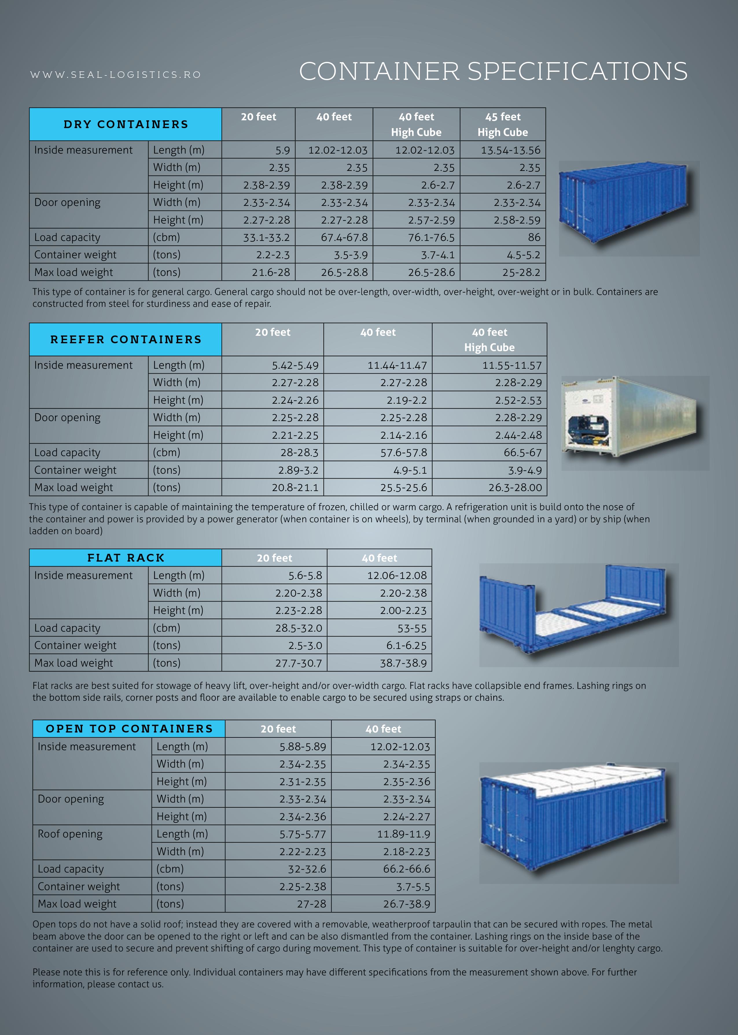 Seal Logistics » Container Dimensions